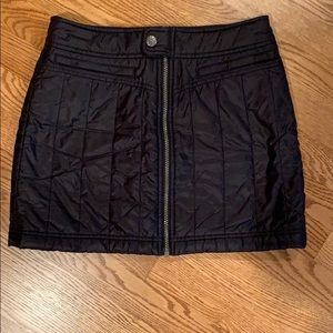 Athleta quilted mini skirt.  Rich black color.